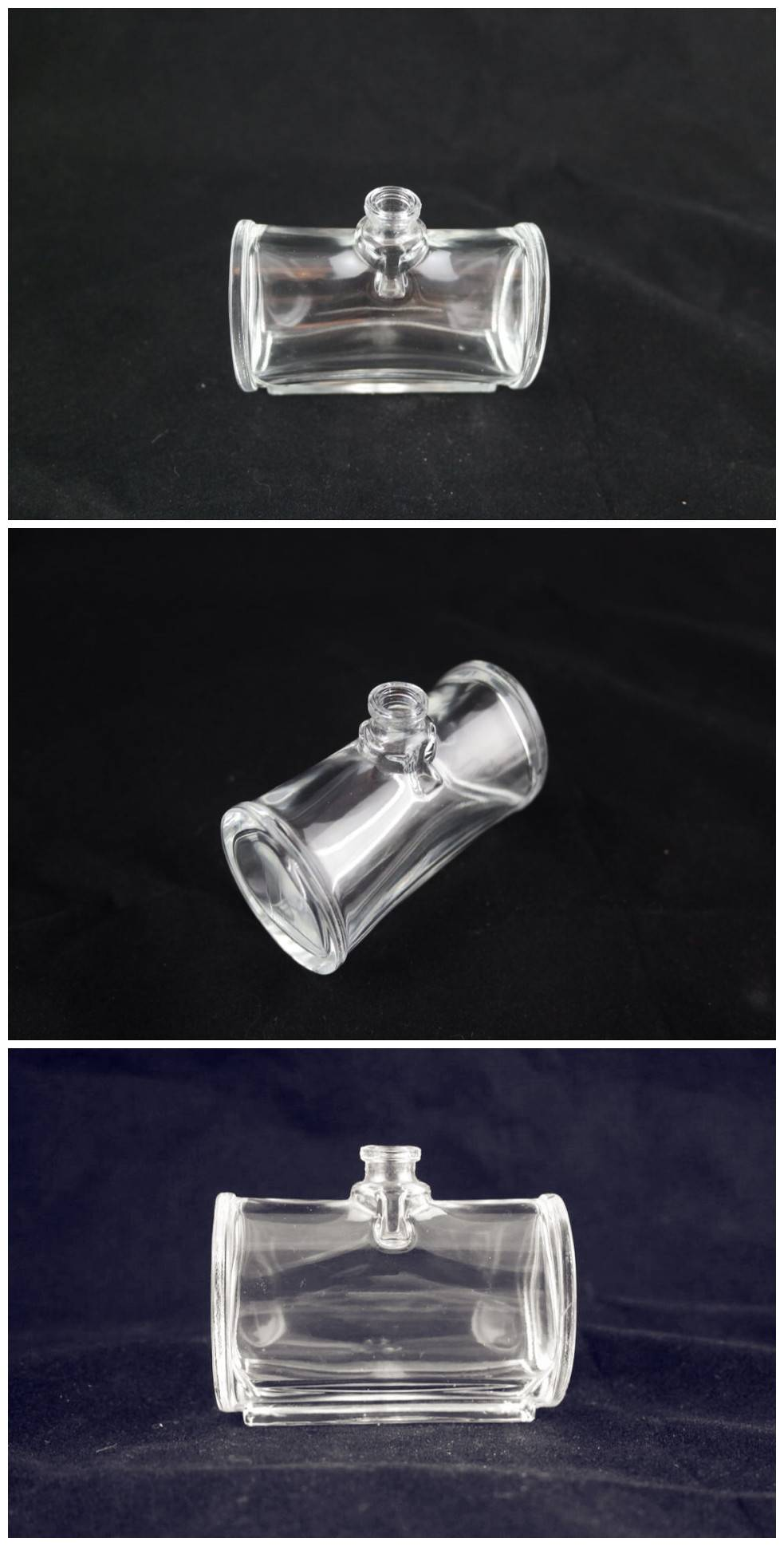 Crystal glass perfume bottle, various colors and designs are available