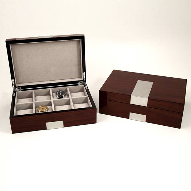 High glossy finish wooden watch gift box