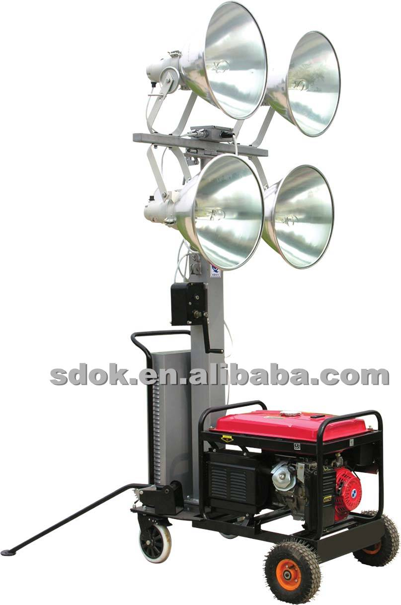 Mobile lighting tower,Hydraulic Mobile Light Tower,trailer type mobile construction ligh