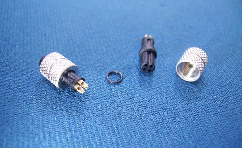 M5 4 PIN FEMALE WATERPROOF CONNECTOR FOR CABLE