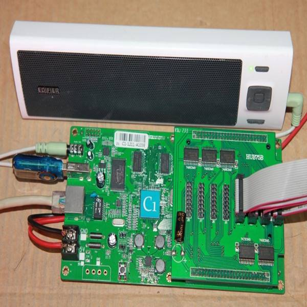 full color led display controller C1 128*384 ,vedio and audio output,ip cluster managemen,