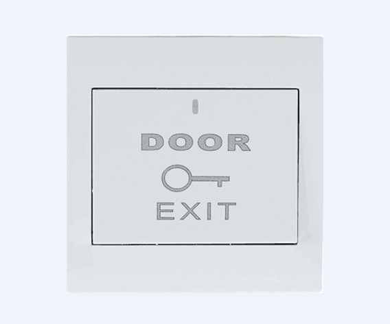 Exit release push button switch for access control system