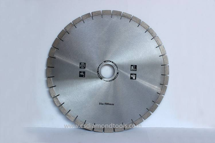customizable 500mm cutting granite diamond saw blade circular saw for granite