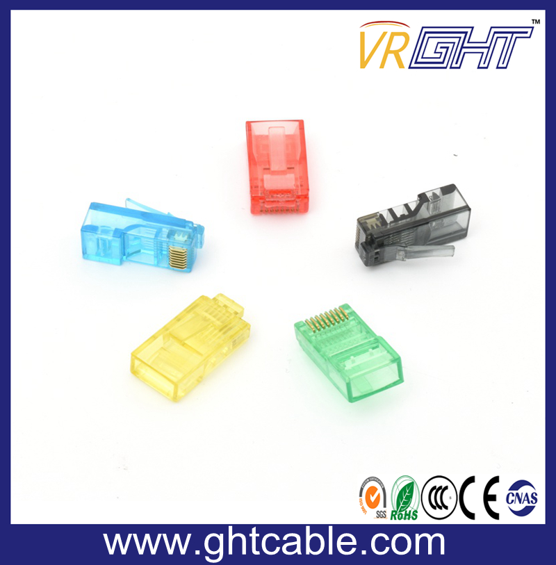 UTP Cat5/CAT6 Gold-Plated Network Crystal Head/RJ45 Connectors/8p8c Plug