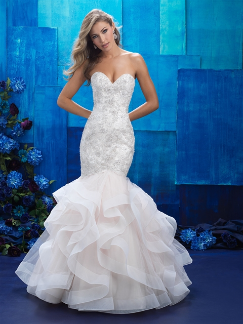 2016 Beautiful Custom Made Puffy Mermaid China Wedding Gown beautiful Wedding Dress