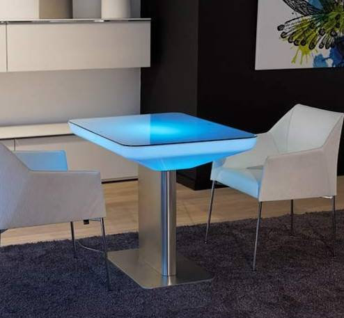 LED  dining table with glowing lights