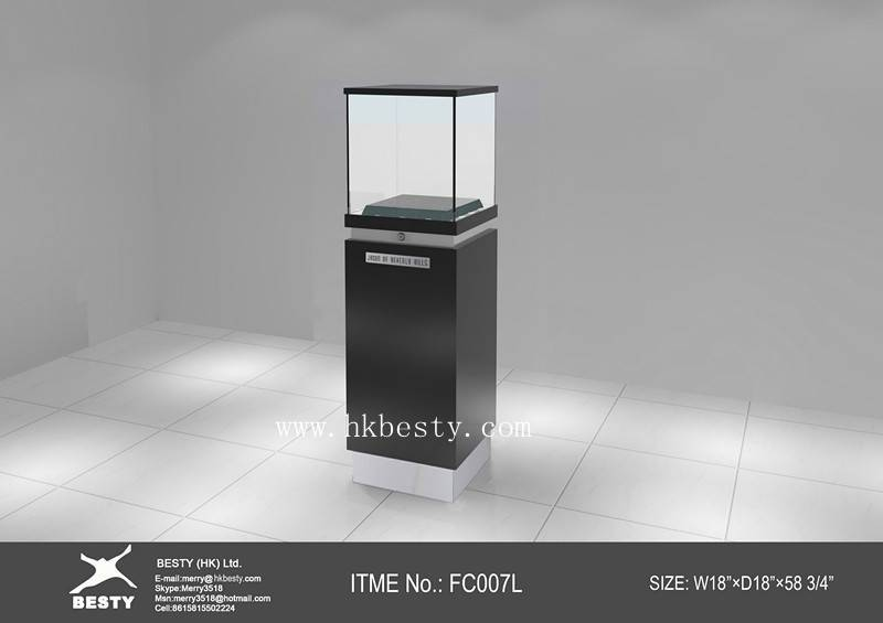 classical black  tower display showcase for top grade jewelry or watches