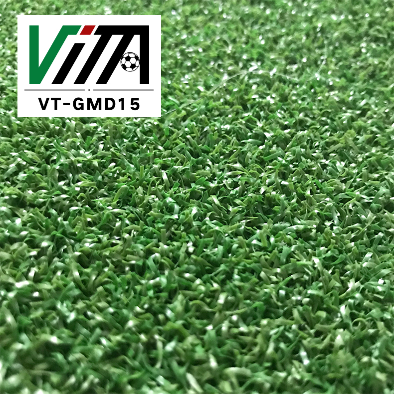 15 mm short pile fire resistant indoor athletic turf / cricket turf grass VT-GMD15