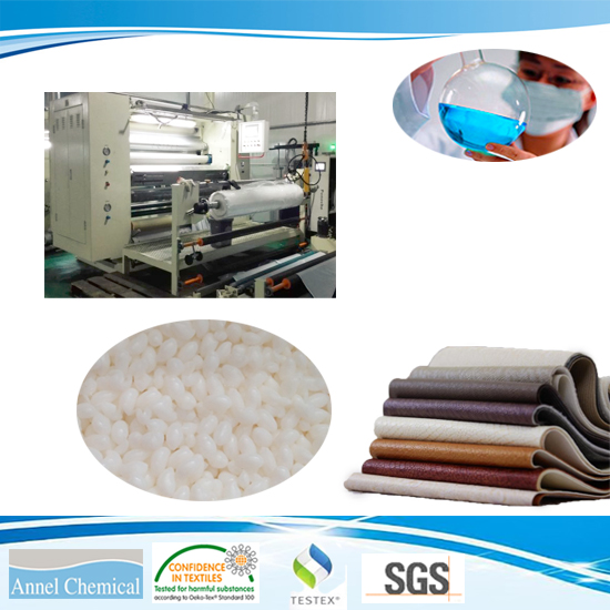 Hot melt granule PES for the bonding of leather, textile product, foam, PVC and ABS materials