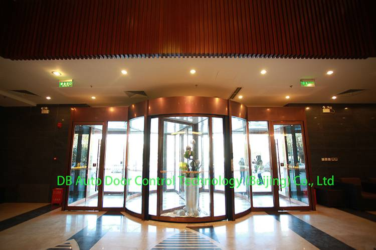2 wing automatic revolving door China manufacture