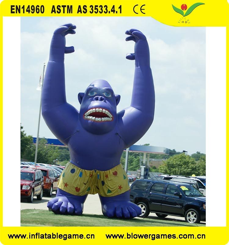 Large promotion model gorilla advertising inflatables