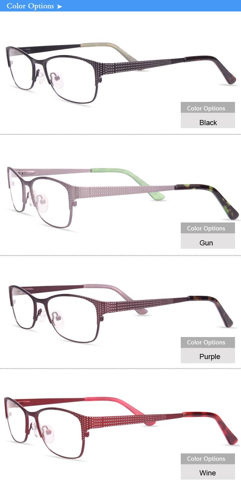high quality metal frame fashion styles