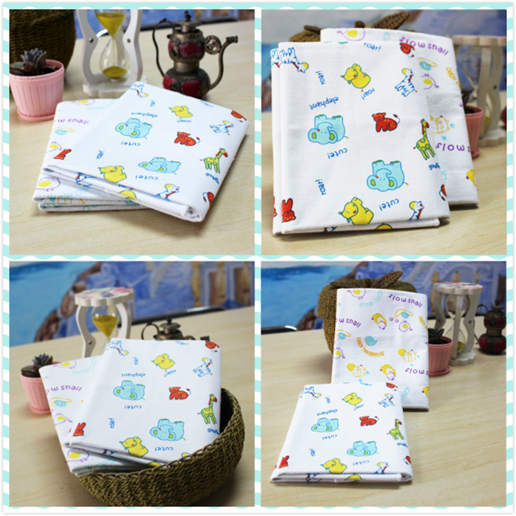 100% cotton flannel bamboo fiber waterproof changing pad liners