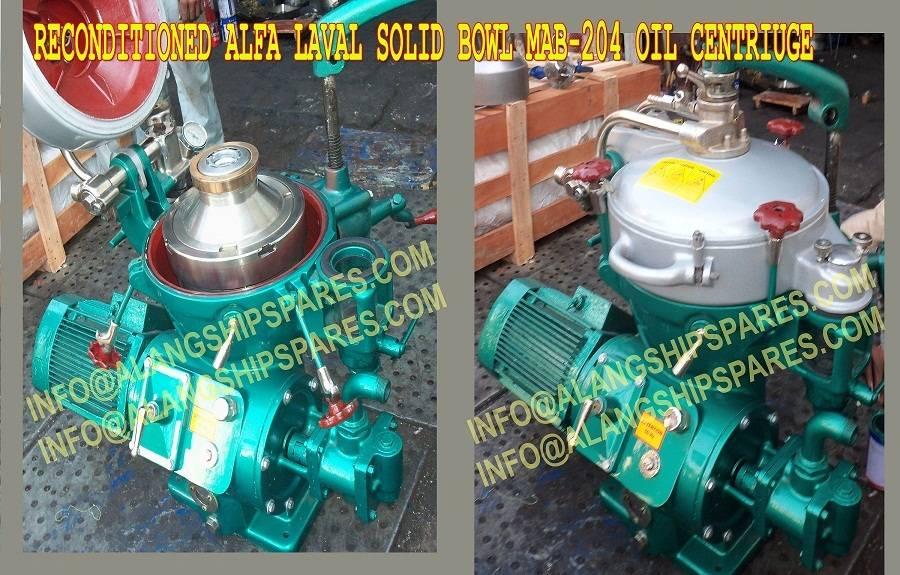 Alfa Laval oil purifier, industrial centrifuge,  MAB-204, MAB-205