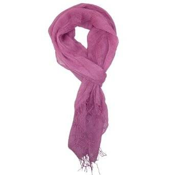 Solid Linen Scarf For Women Lady