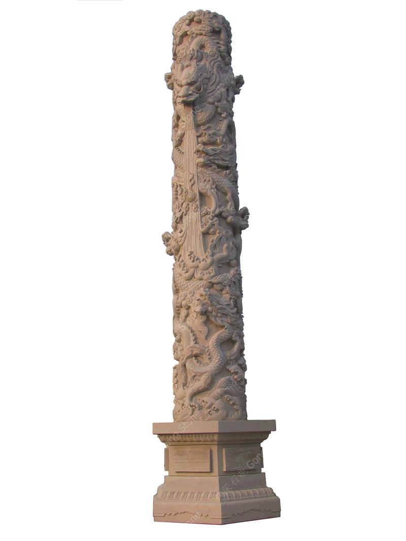 Dragon Pillars Sculpture