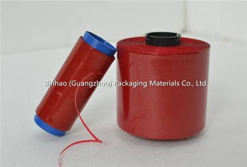 Full Solid Red BOPP Cigarette Tear Tape for Tobacco Packaging and Sealing