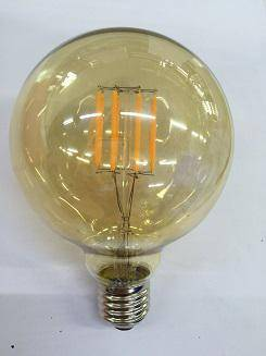 Round G80 5W Gold Cover LED Filament Bulb