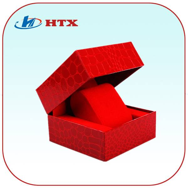 Red High Quality Cardboard Paper Box with Velvet for Watch/Jewelry