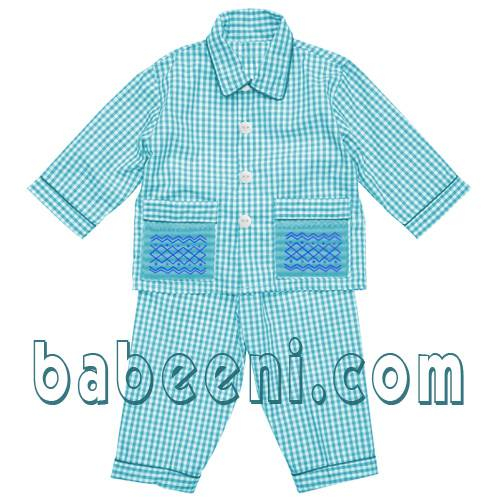 boy smocked pyjamas