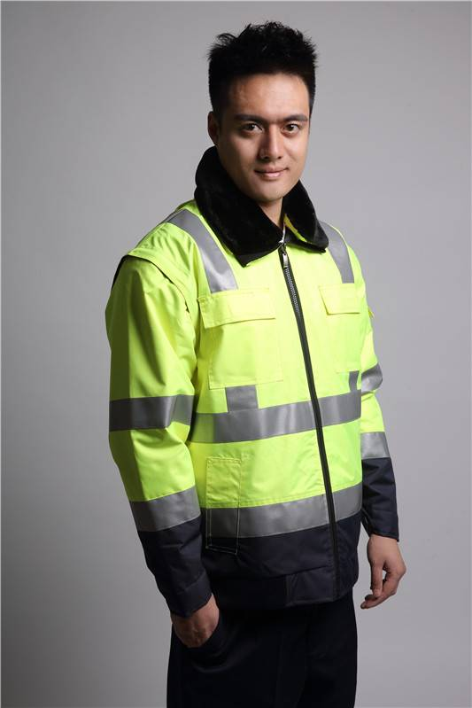 factory price mens winter reflective work jacket