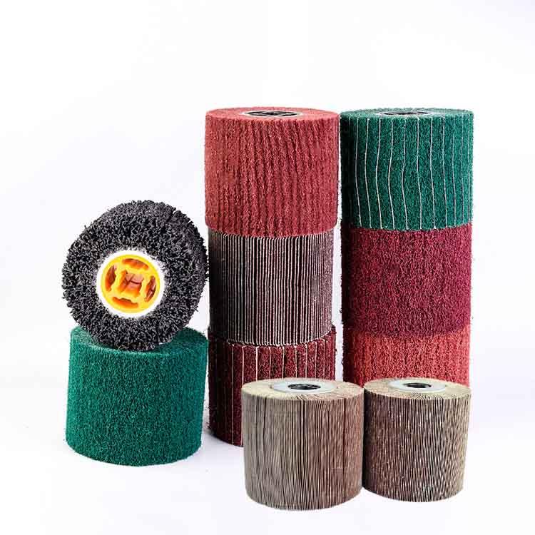 China surface conditioning abrasive wheel roller,factory supply non-woven abrasive wheel