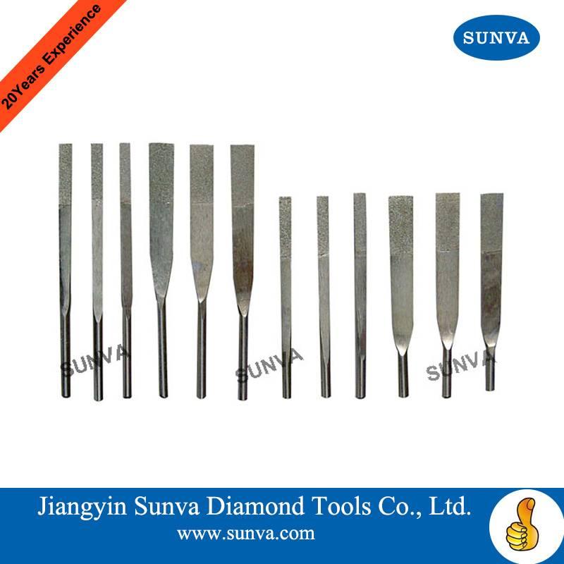 SUNVA Diamond Machine Taper Files / Diamond Files