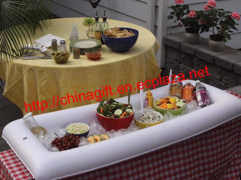 Inflatable serving bar / buffet table