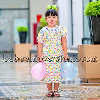 Smocked birthday bishop dress - BB810
