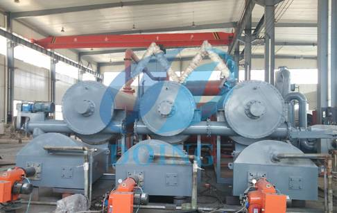 Fully automatic continuous tyre pyrolysis plant