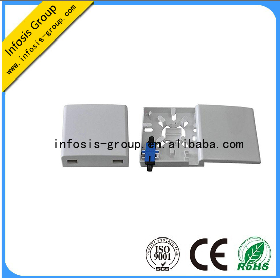 2 port Fiber optic mounting box, fiber optic outlet box, FTTH wall outlet