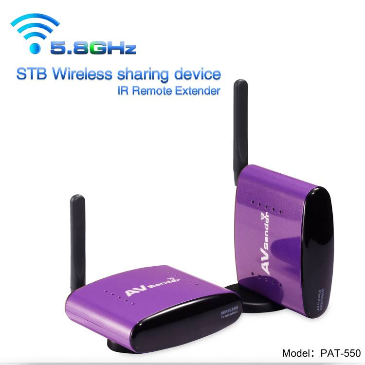 PAT-580 5.8GHz Wireless TV Receiver Audio Video Transmitter with 300 Meter Transmission