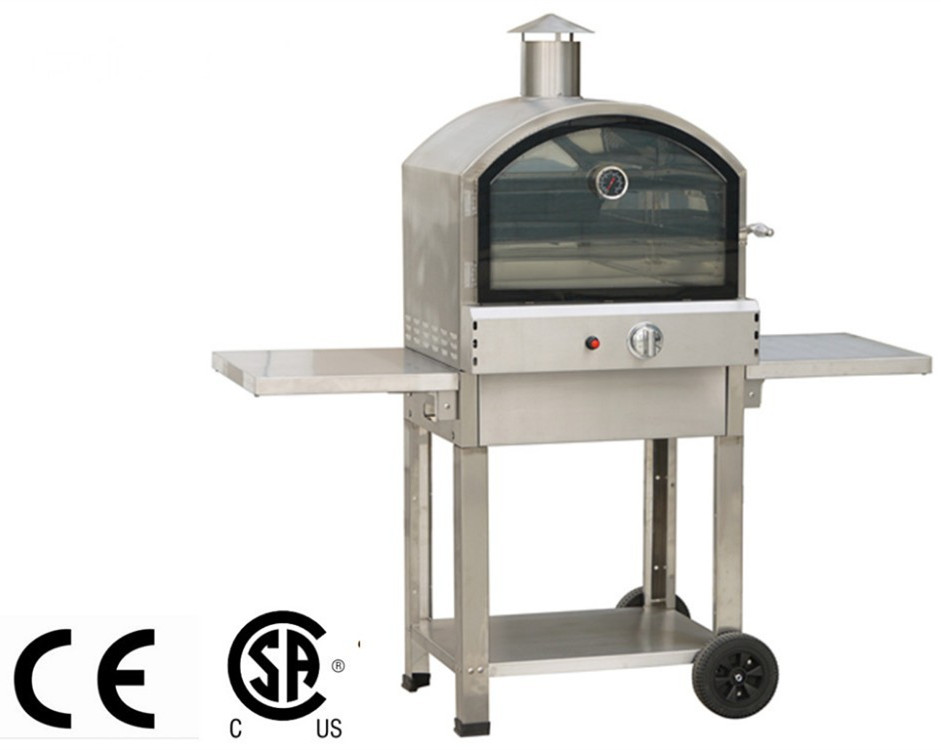 Movable gas grill with pizza oven(garden party)