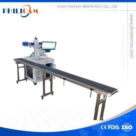 production date of water bottle Philicam Flying fiber laser marking machine
