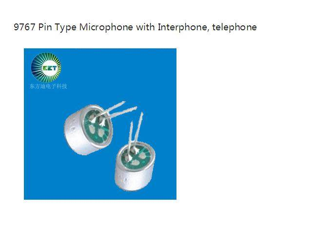9767 Pin Type Microphone with Interphone, telephone