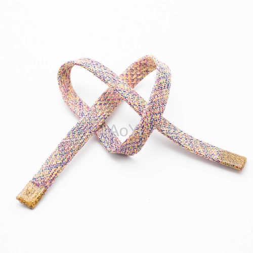 Jacquard Embroidered braided drawcord