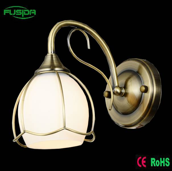 Glass and Chrome Ball Garden LED Wall Lamp With Glass lighting for home decoration