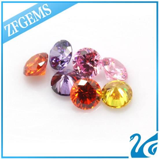 6mm colorful synthetic diamond round brilliant cut diamond cz stones zircon for jewelry