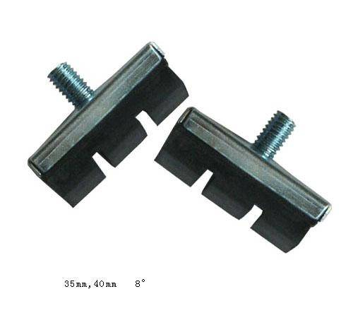Brake shoes with Five Nuts/Screws for Mountain Bike, MTB, BMX, OEM Orders are Welcome