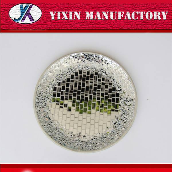 beautiful decoration handmade craft mosaic glass plate