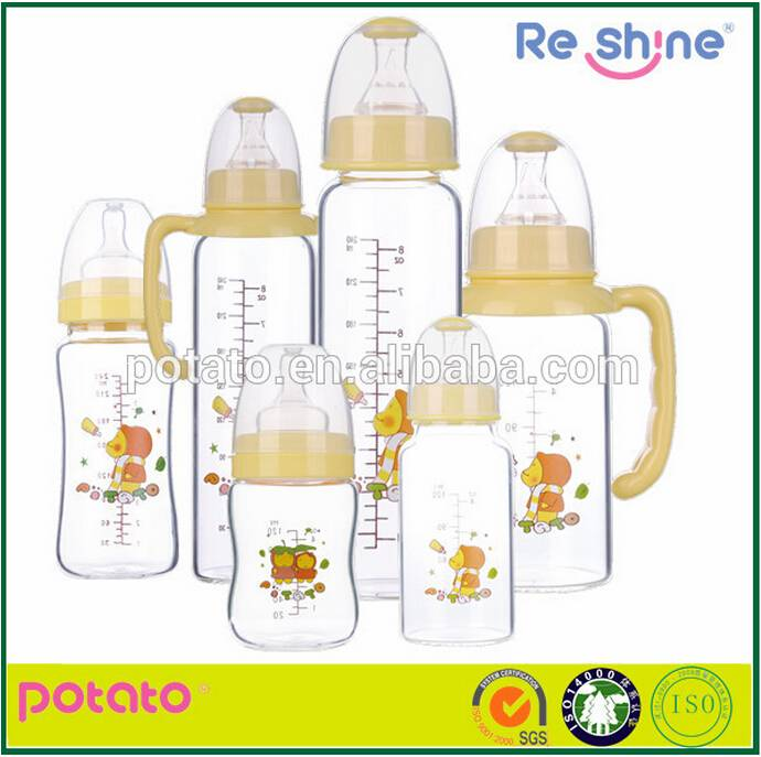 Standard& Wide neck cute style Free sample Baby bottle/baby feeding biberon