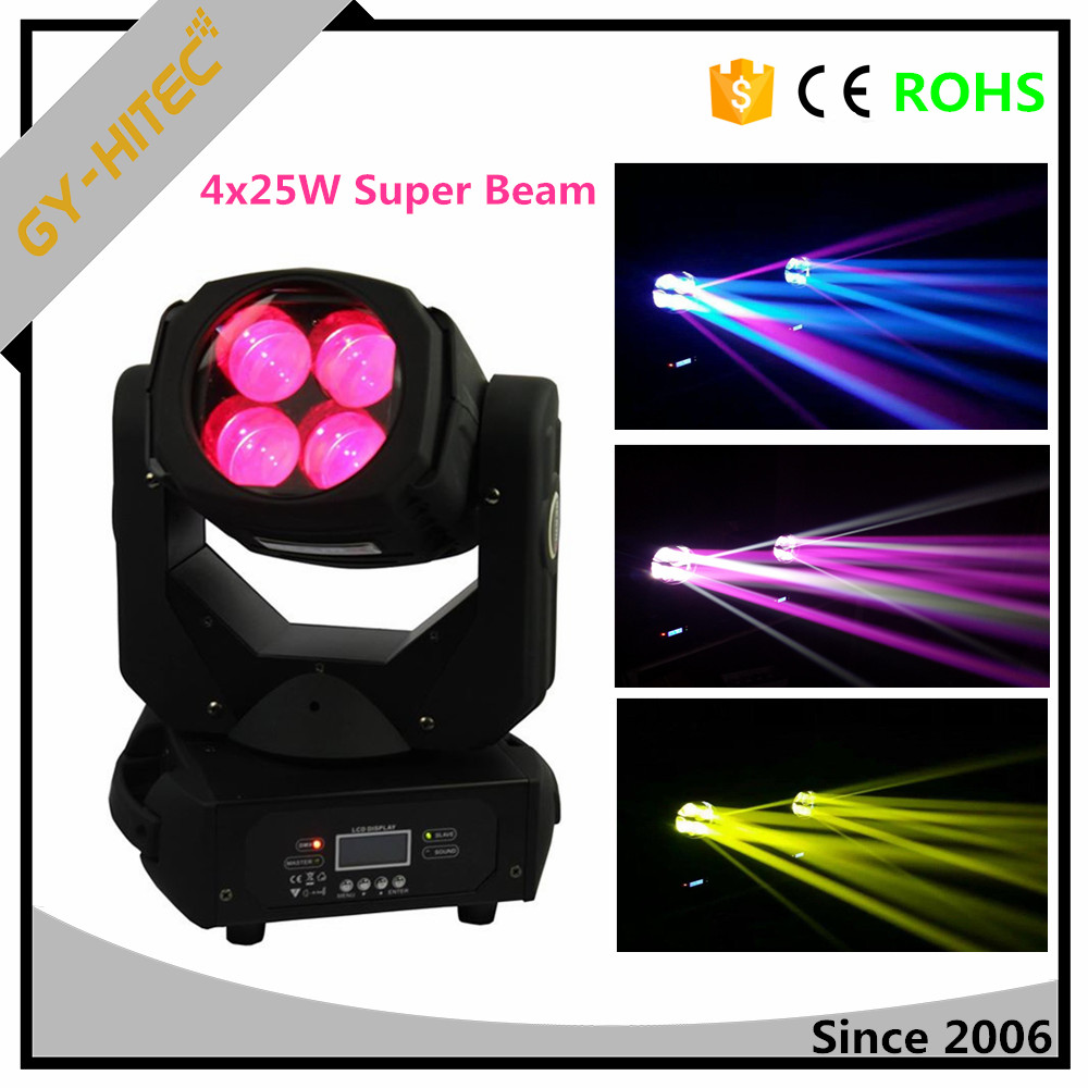 Stage light for bar 4leds x25W RGBW 4in1 LED super beam moving head light