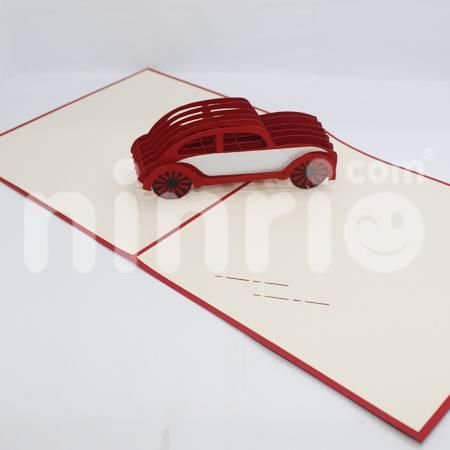 Car Pop Up Card Handmade Greeting Card