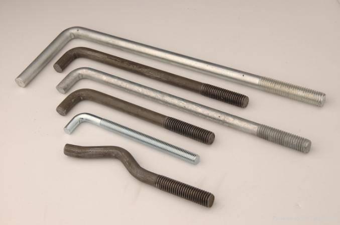 L and J bolt, anchor bolt,HDG surface treatment