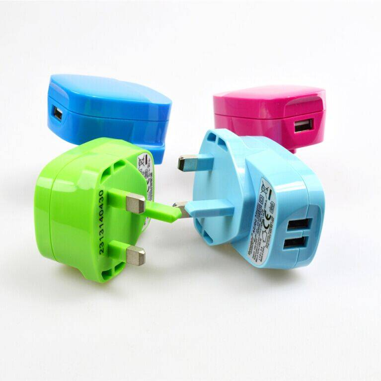 USB Wall Charger 1.0A UK 3Pin TUV CE RoHs IEC CB approved