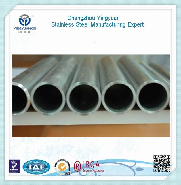 Sales promotion silvery stainless steel pipe