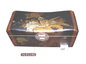 Antique box,Leather covered box,Jewelry box