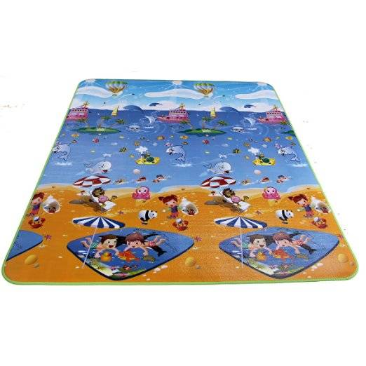 Hot Sale Waterproof Children Play Mats Double Sides Baby Crawling Pads Alphabet Learning Mats Campin