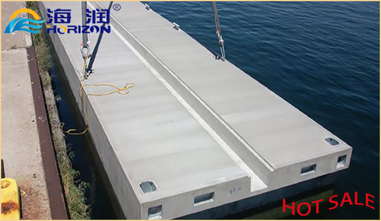 Concrete Plastic Modular Floating Dock Pontoon Made in China