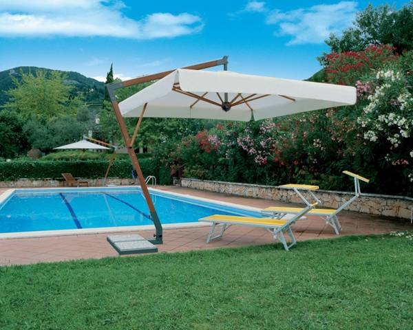 Garden Patio Umbrellas - Side Pole Garden Parasol
